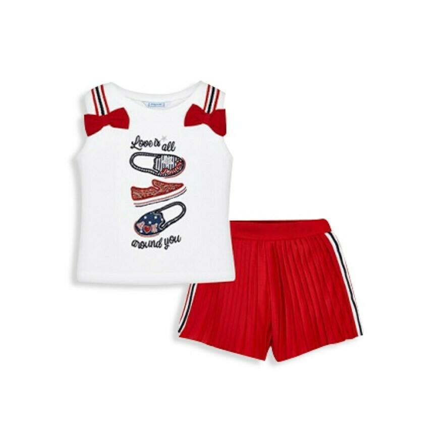 Pleated Shorts Set 3215 - 6