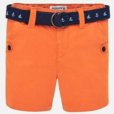 Orange Belted Shorts 1241 24m