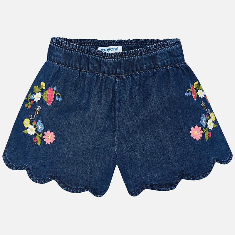 Embroidered Denim Shorts 3222 7