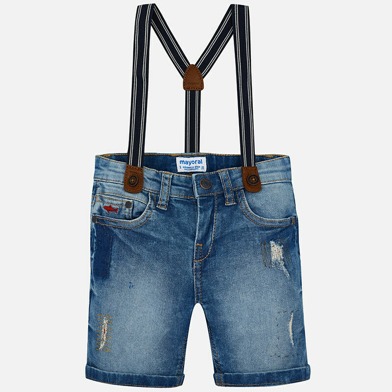 Denim Suspender Shorts 3270T-7