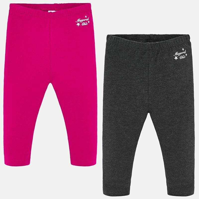 Pink/Grey Leggings 702 - 6m