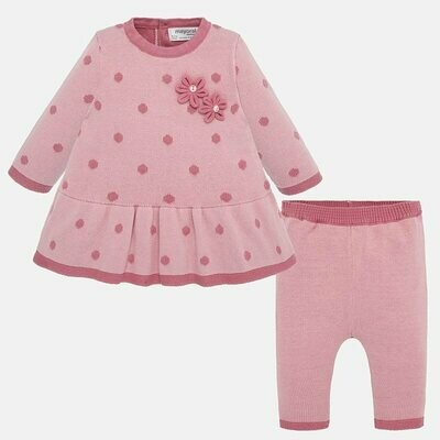 Knit Dress Set 2812 - 4/6m