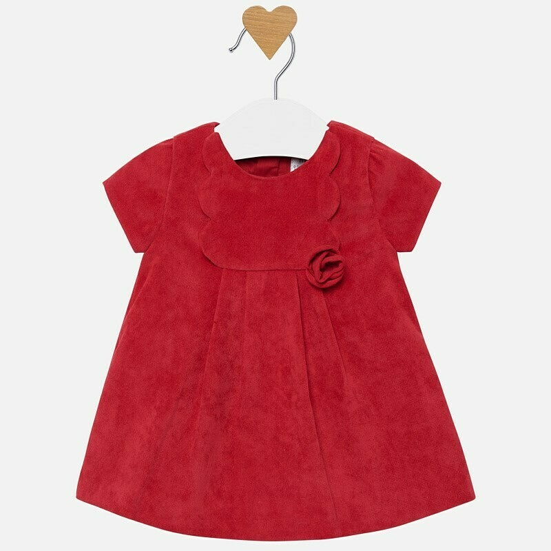 Red Cord Dress 2824 2/4m