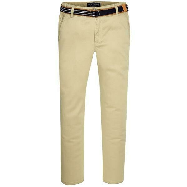 Tan Belted Twill Pants 3503 - 2