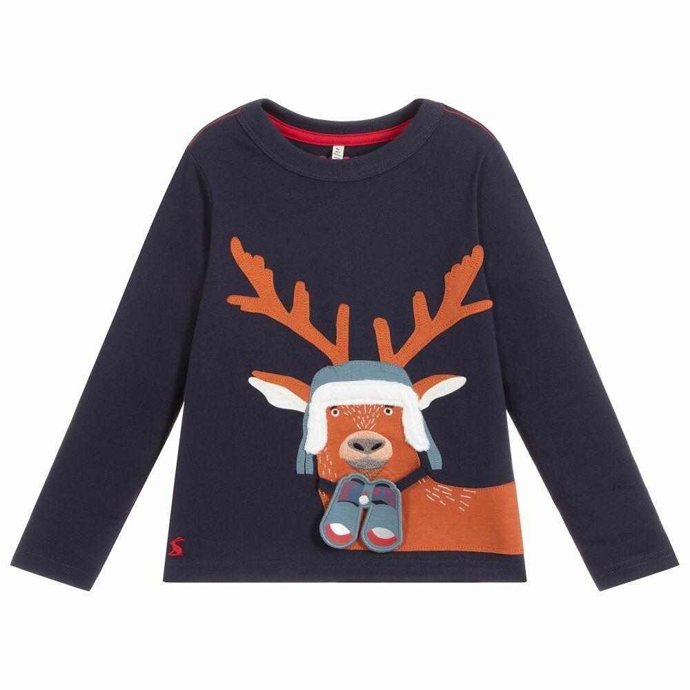 Navy Deer Shirt 2y