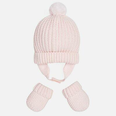Pink Hat & Mitten Set 9608 - 3m