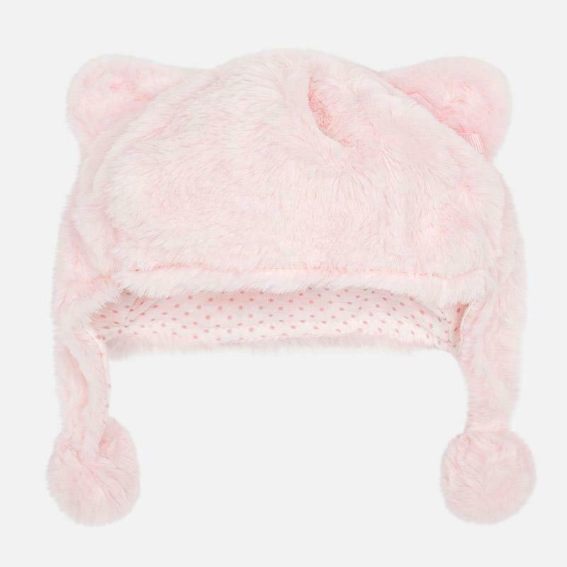 Pink Fur Hat 9908 6/9m