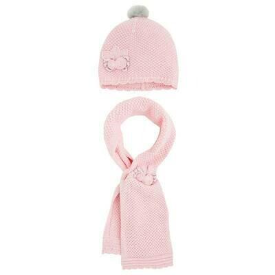 Pink Scarf Set 10857 - S