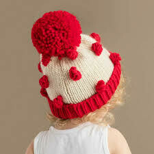 Red Popcorn Hat - L