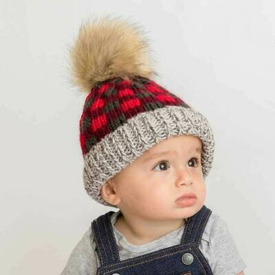 Red Buffalo Check Hat - S