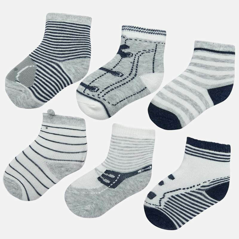 Grey Sock Set 9169 12m