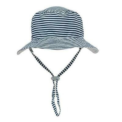 Blue Stripe Bucket Hat - S