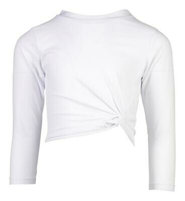 White Crop Rash Top 8