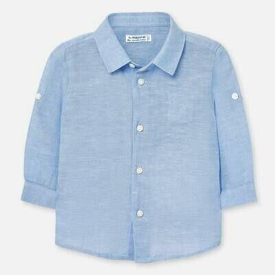 Blue Linen Shirt 117 12m