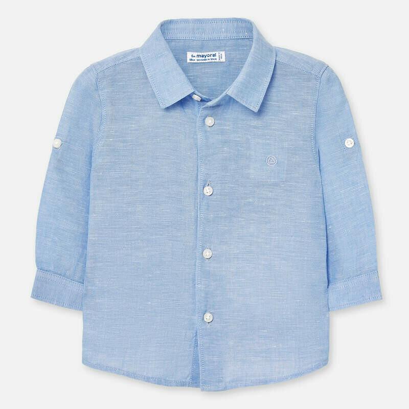 Blue Linen Shirt 117 24m