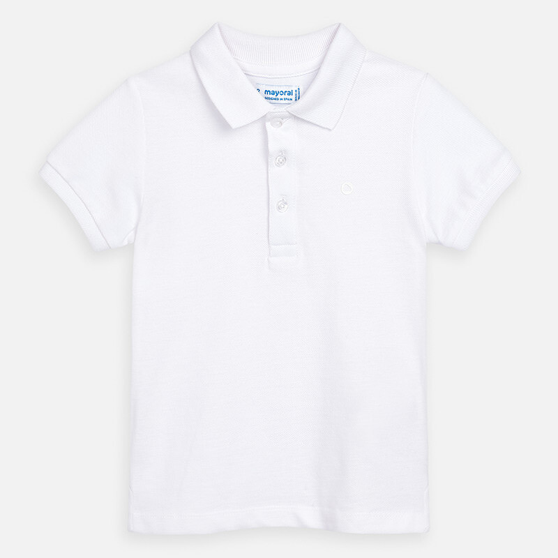 Basic White Polo Shirt 150 8