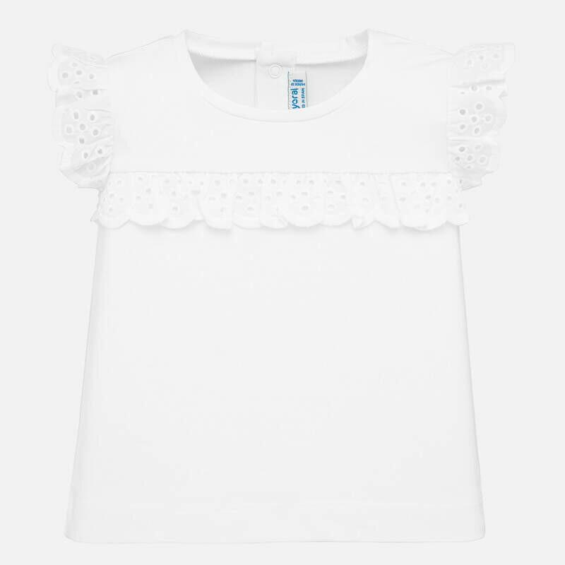 White Ruffled T-Shirt 1061 12m