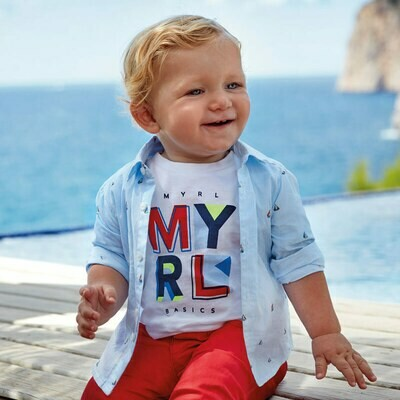 Sailboat Shirt 1166 24m