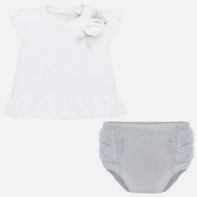 Grey Diaper Set 1255 6/9m
