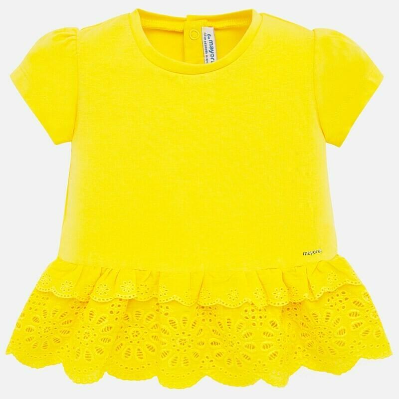 Yellow Eyelet Shirt 1062 18m