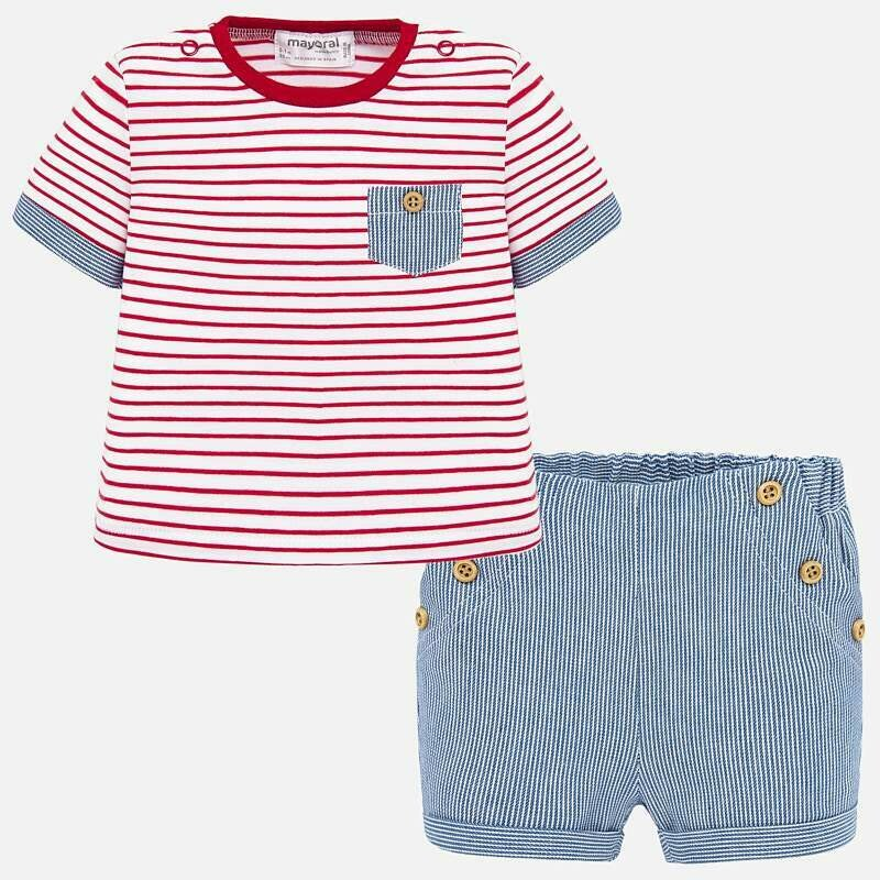 Striped Shorts Set 1260 6/9m