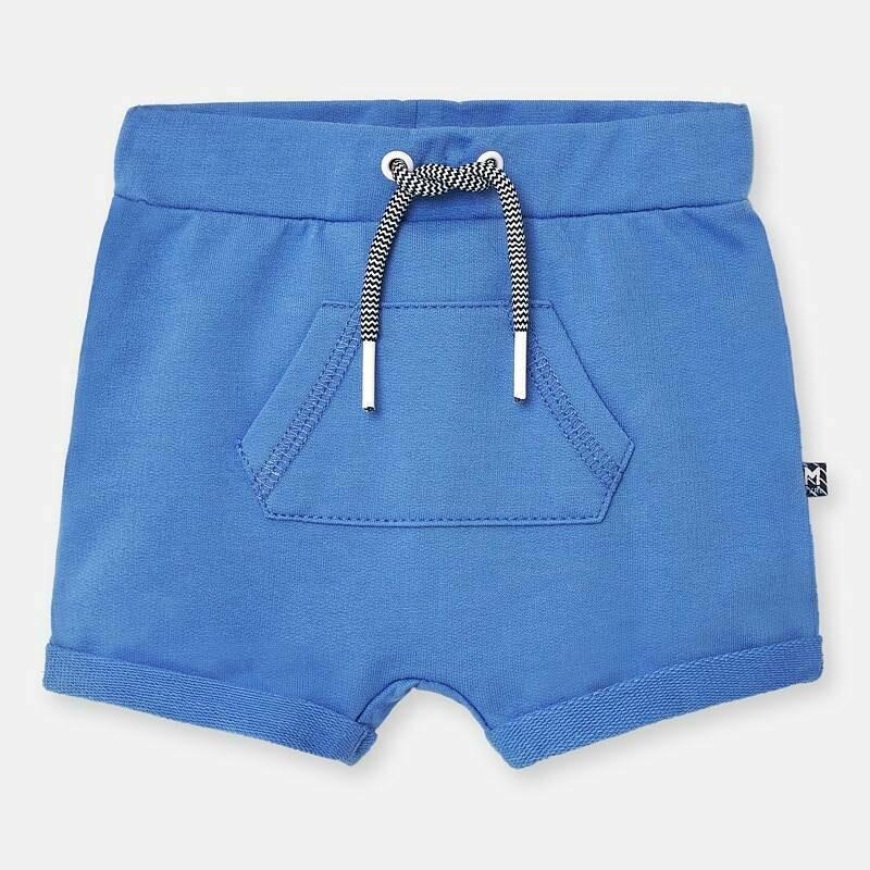 Blue Fleece Shorts 1264 6/9m