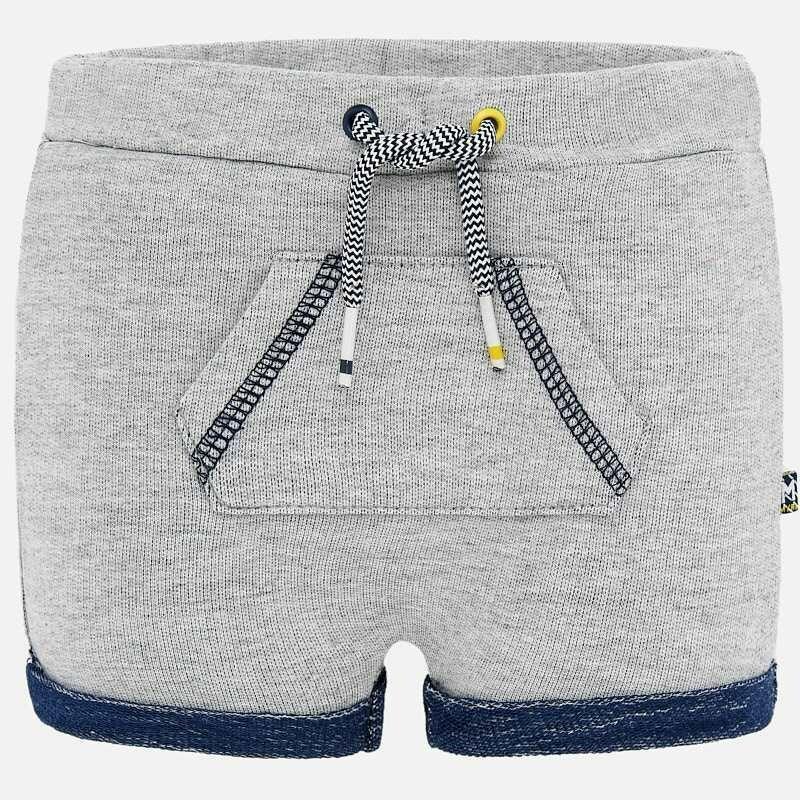 Grey Fleece Shorts 1264 4/6m