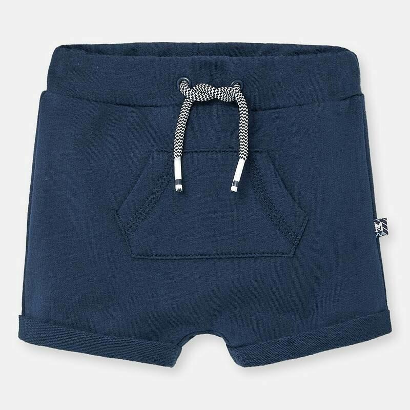 Navy Fleece Shorts 1264 6/9m