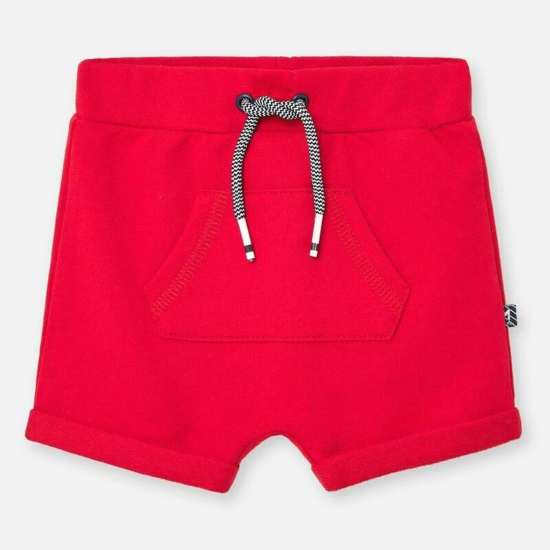 Red Fleece Shorts 1264 6/9m