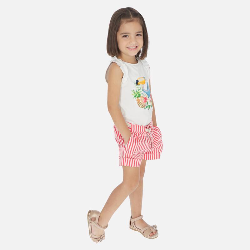 Melon Stripe Shorts 3283 6