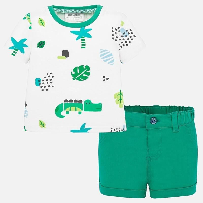 Palm Leaf Shorts Set 1277 18m