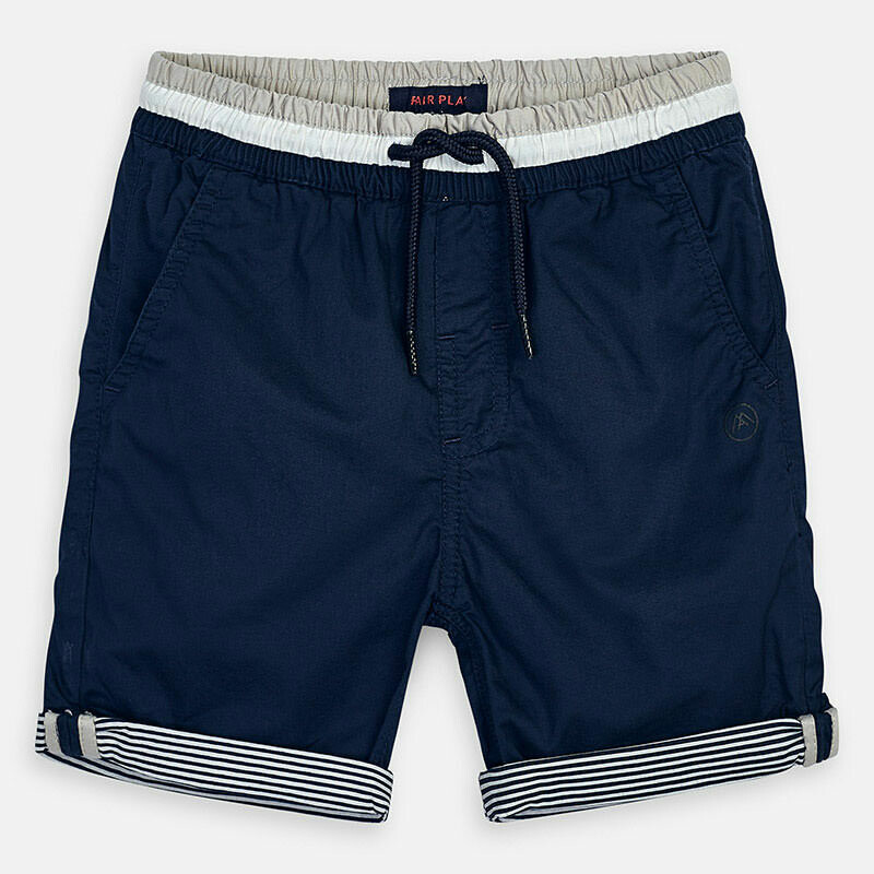 Navy Cuffed Shorts 3254-8