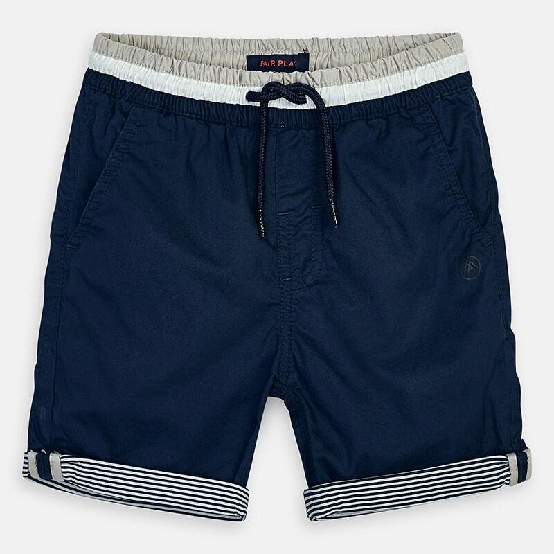 Navy Cuffed Shorts 3254-7