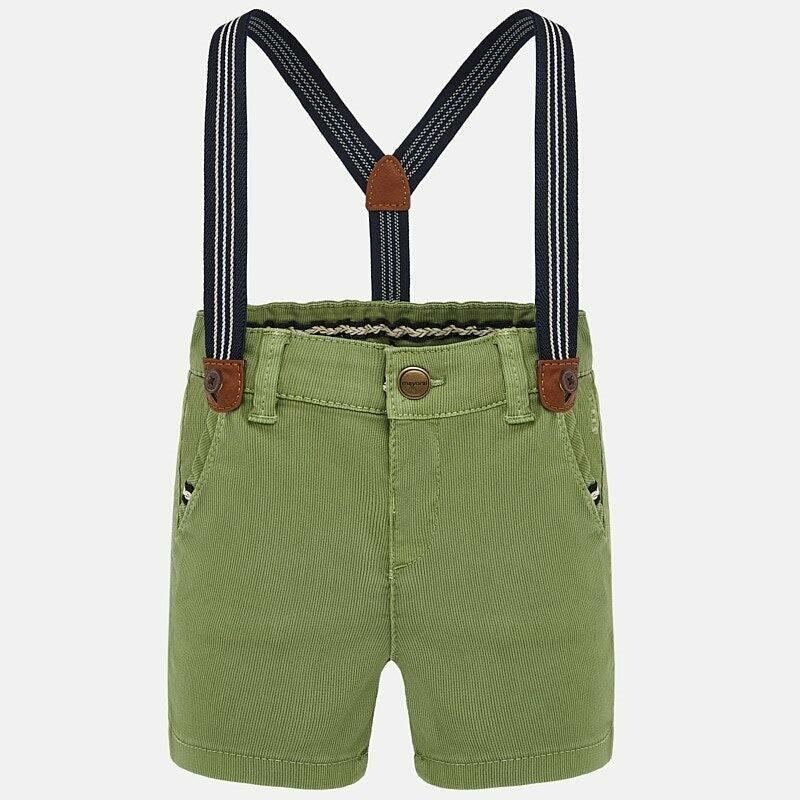 Jungle Green Suspender Shorts 1283 12m