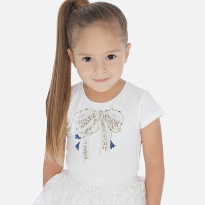 White Bow T-Shirt 3007 4