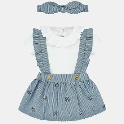 Overall Skirt Set 1863 4/6m
