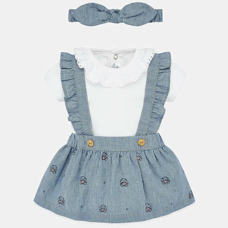 Overall Skirt Set 1863 2/4m