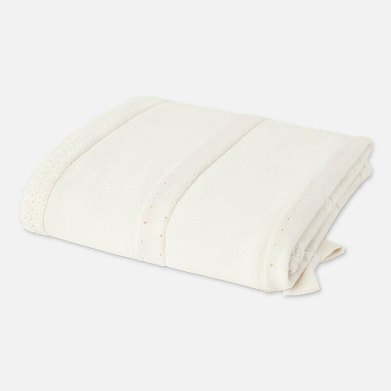 White Knit Blanket 9657