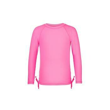Neon Pink LS Rash Top - 3
