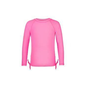 Neon Pink LS Rash Top - 3