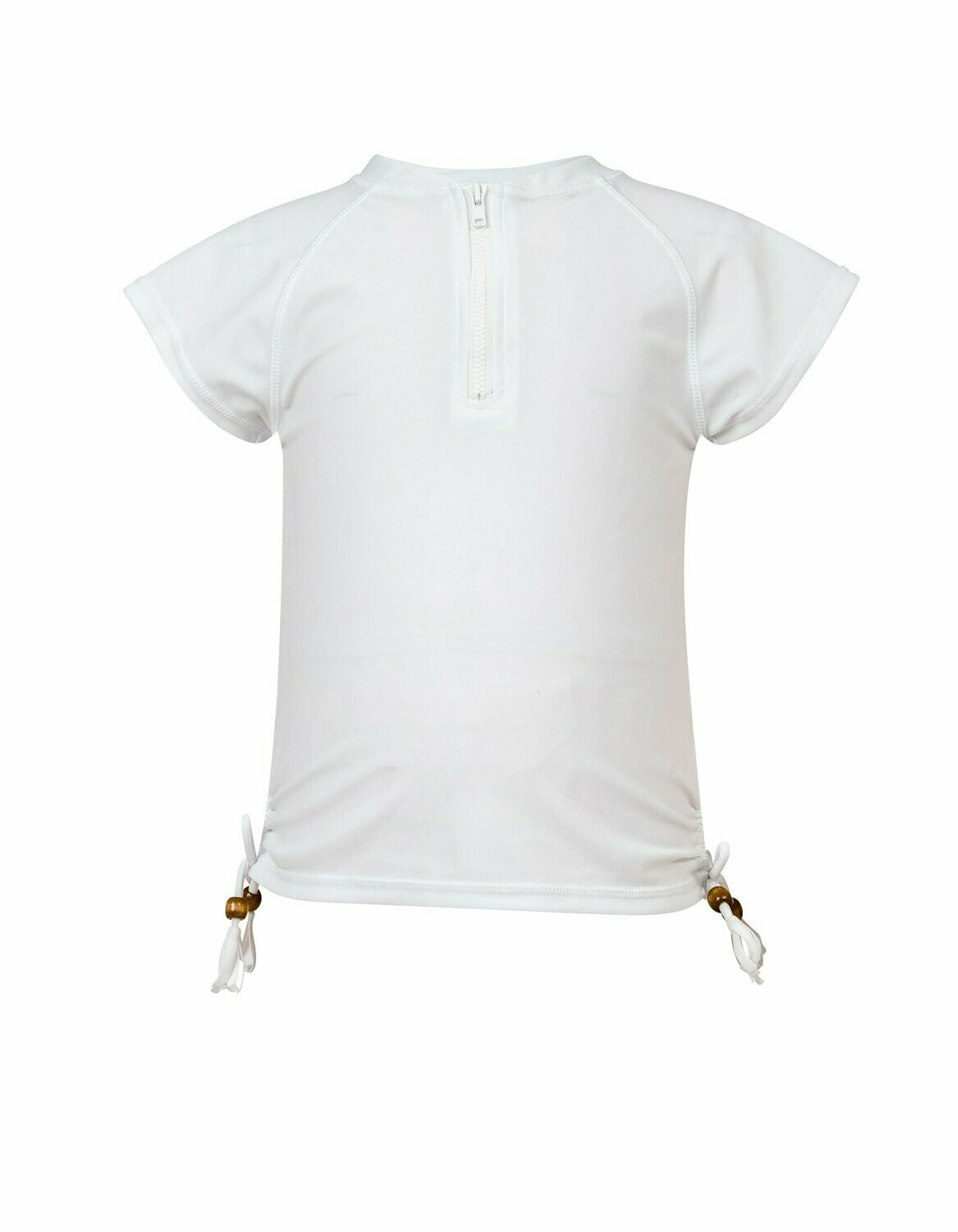 White Zip SS Rash Top - 8