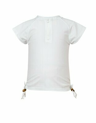 White Zip SS Rash Top - 1