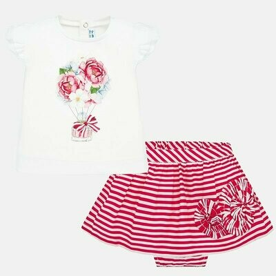 Striped Skirt Set 1949 12m