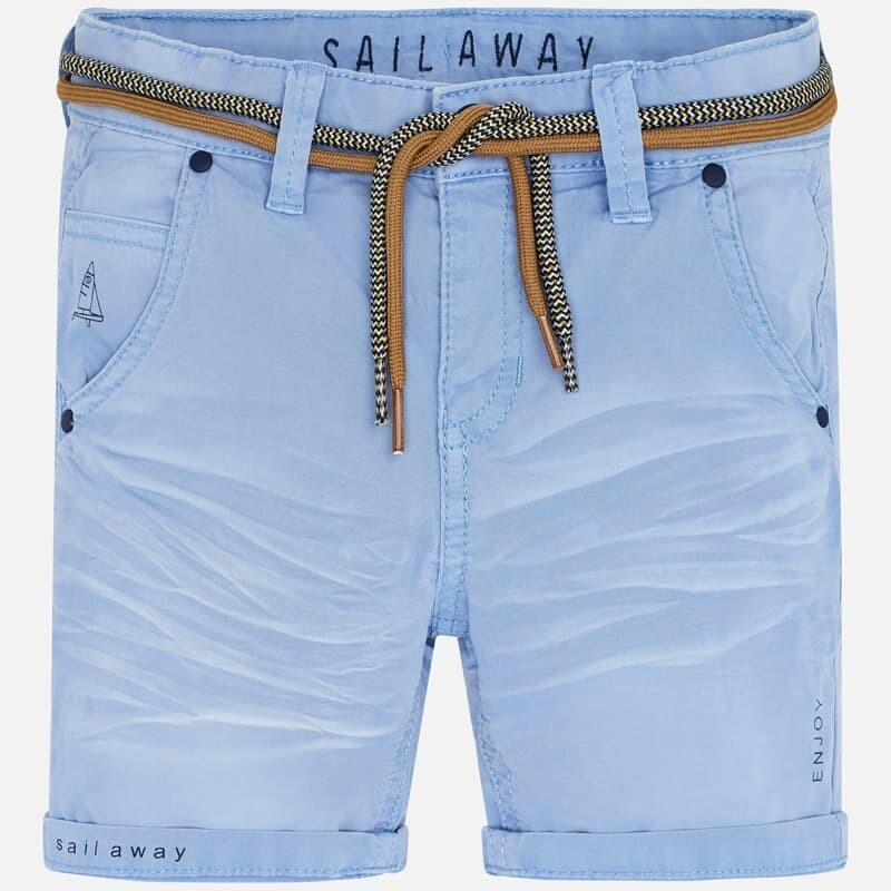 Blue Belted Shorts 3266 6