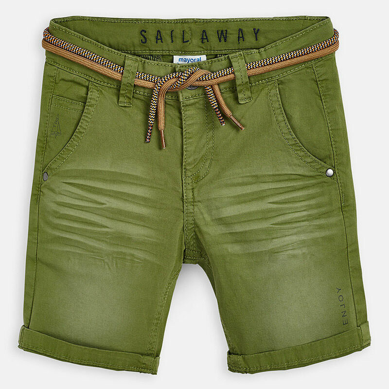 Green Belted Shorts 3266 7