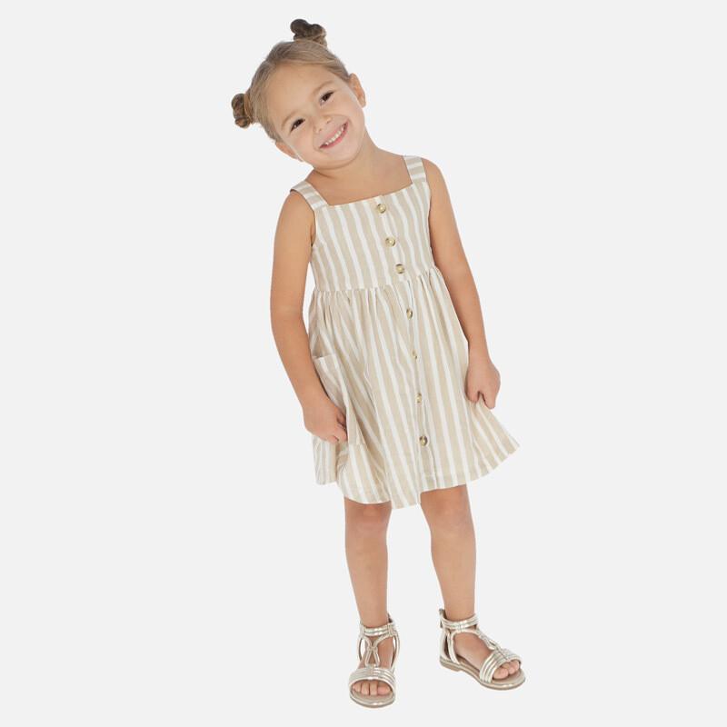 Striped Linen Dress 3944 3