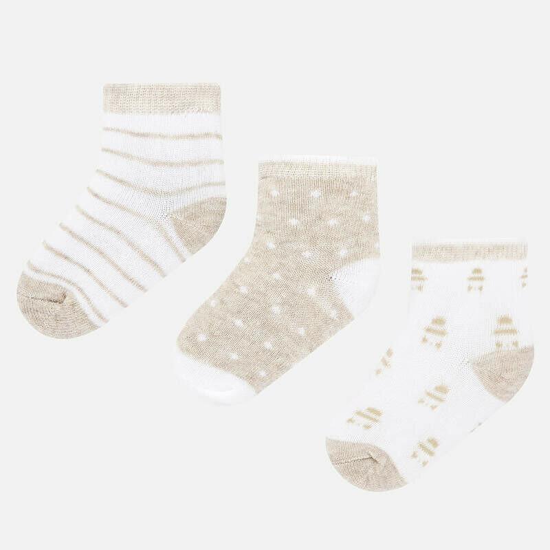 Beige Sock Set 9243 6m