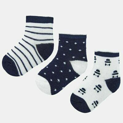 Navy Sock Set 9243 6m