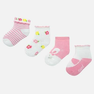 Rose Pink Sock Set 9245 12m