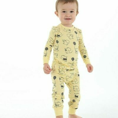 Yellow Mouse PJ Set WF4103